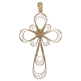 Croce argento 800 con Corallo s2