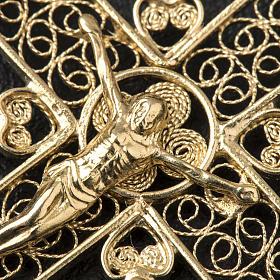 Croce a punta Argento 800 dorato s3