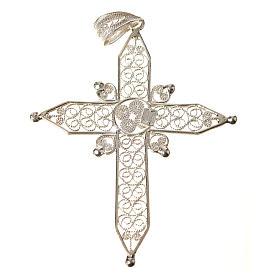 Croce a punta Argento 800 filigrana s2