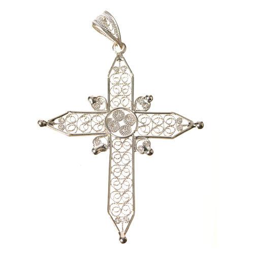 Croce a punta Argento 800 filigrana 4