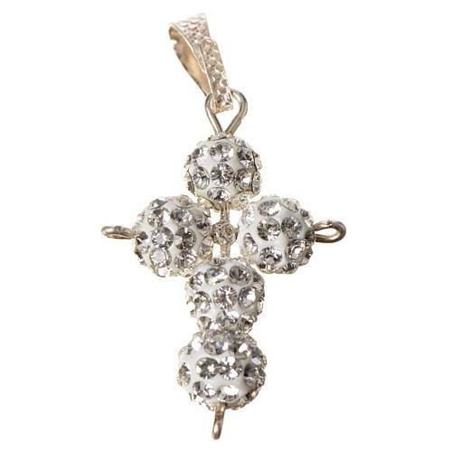 Croce con perle Swarovski 2,5x1,5 cm 3