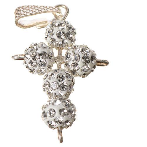 Croce con perle Swarovski 2,5x1,5 cm 2
