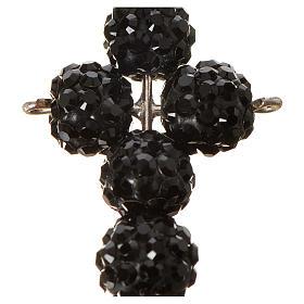 Croix avec perles Swarovski noires 2,5x1,5 cm s2