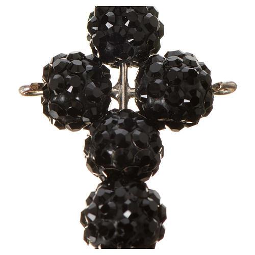 Cross with Black Swarovski pearls, 2,5 x 1,5 cm 6