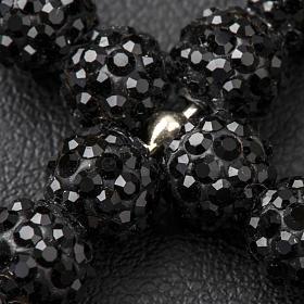 Croix avec perles Swarovski noires 3.5x3 cm s3
