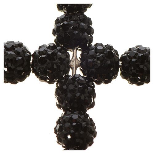 Croix avec perles Swarovski noires 3.5x3 cm 5