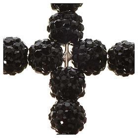 Croce con perle Swarovski nero 3x3,5 cm s2
