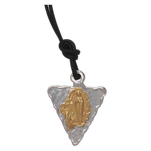 Medaglia triangolare Lourdes 1