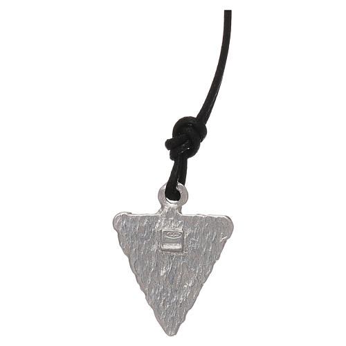 Medaglia triangolare Lourdes 2