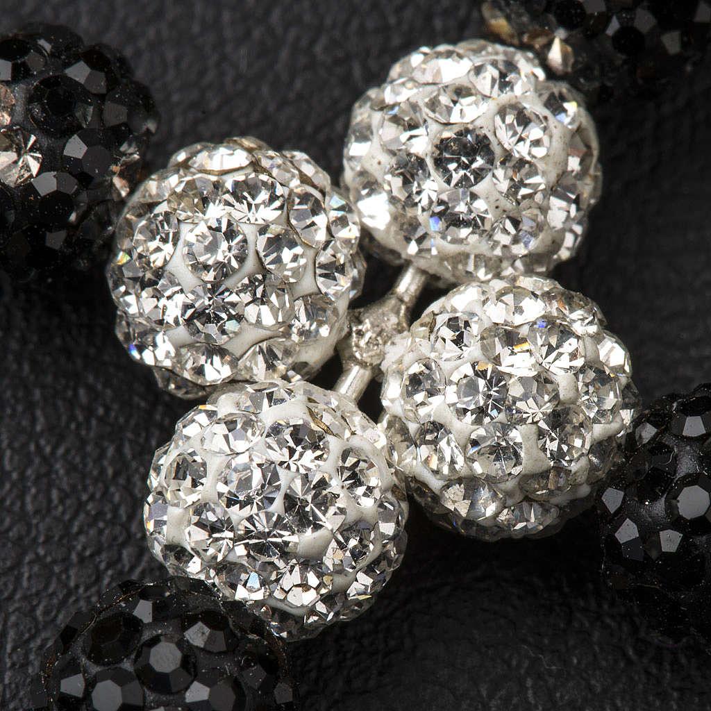 Croix avec perles Swarovski 3.5x3 cm 4