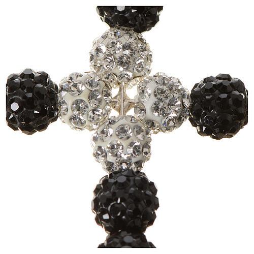 Croix avec perles Swarovski 3.5x3 cm 2