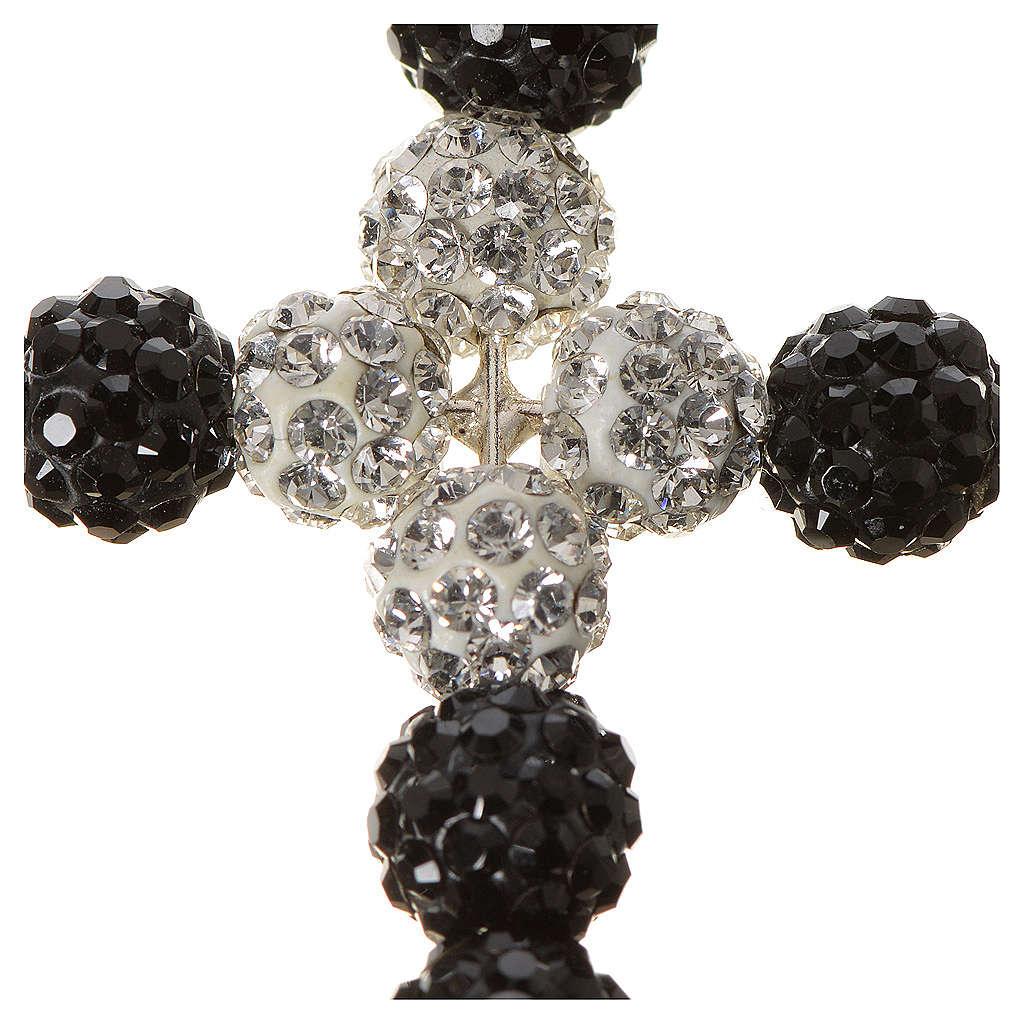 Croce con perle Swarovski  3x3,5 cm 4