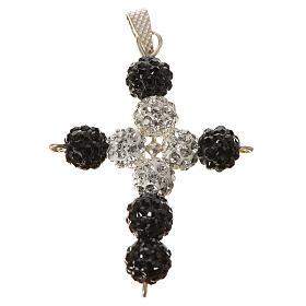 Croce con perle Swarovski  3x3,5 cm s1