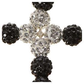Croce con perle Swarovski  3x3,5 cm s2