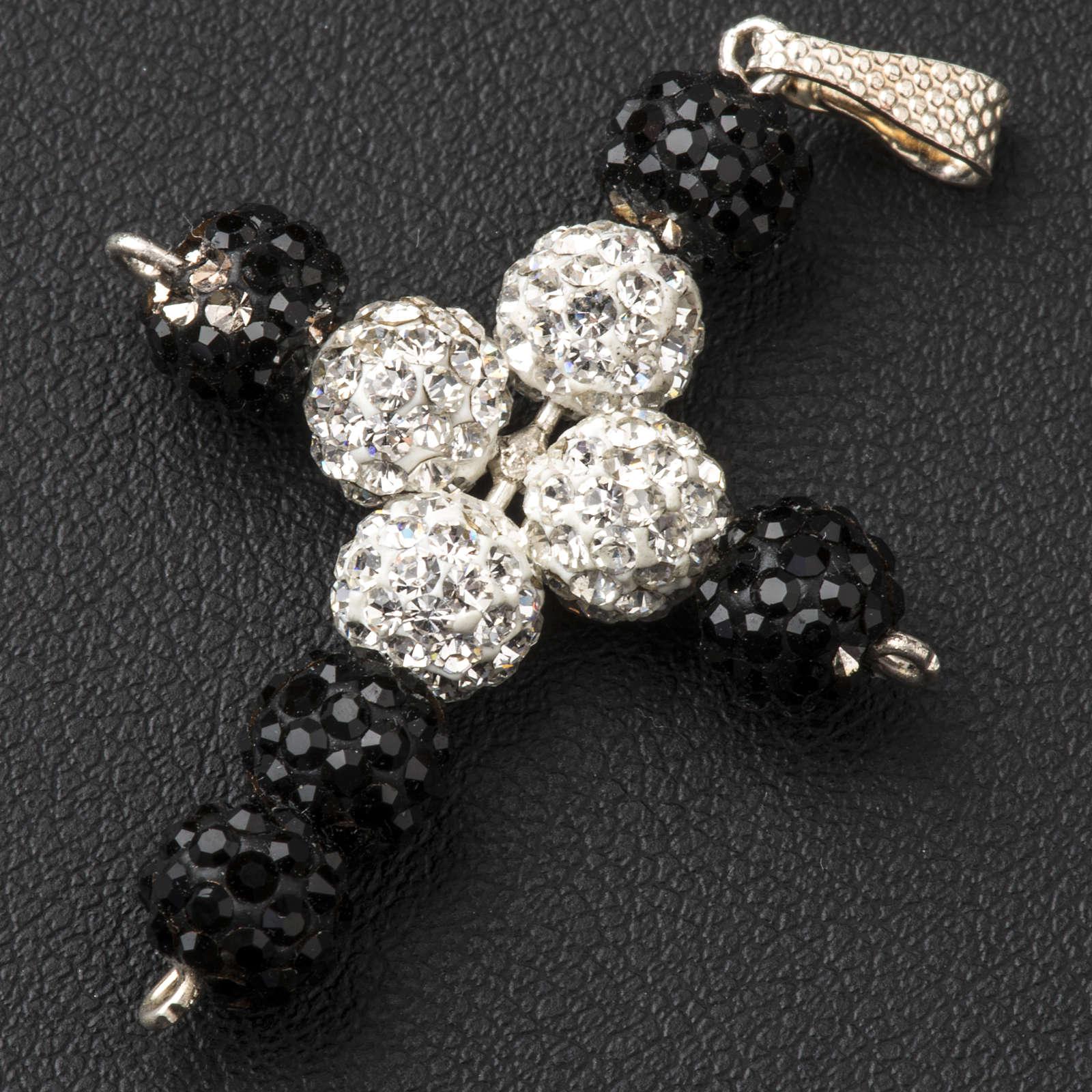 Cross with Swarovski pearls, 3 x 3,5 cm 4