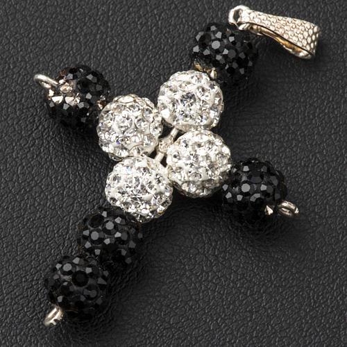 Cross with Swarovski pearls, 3 x 3,5 cm 3