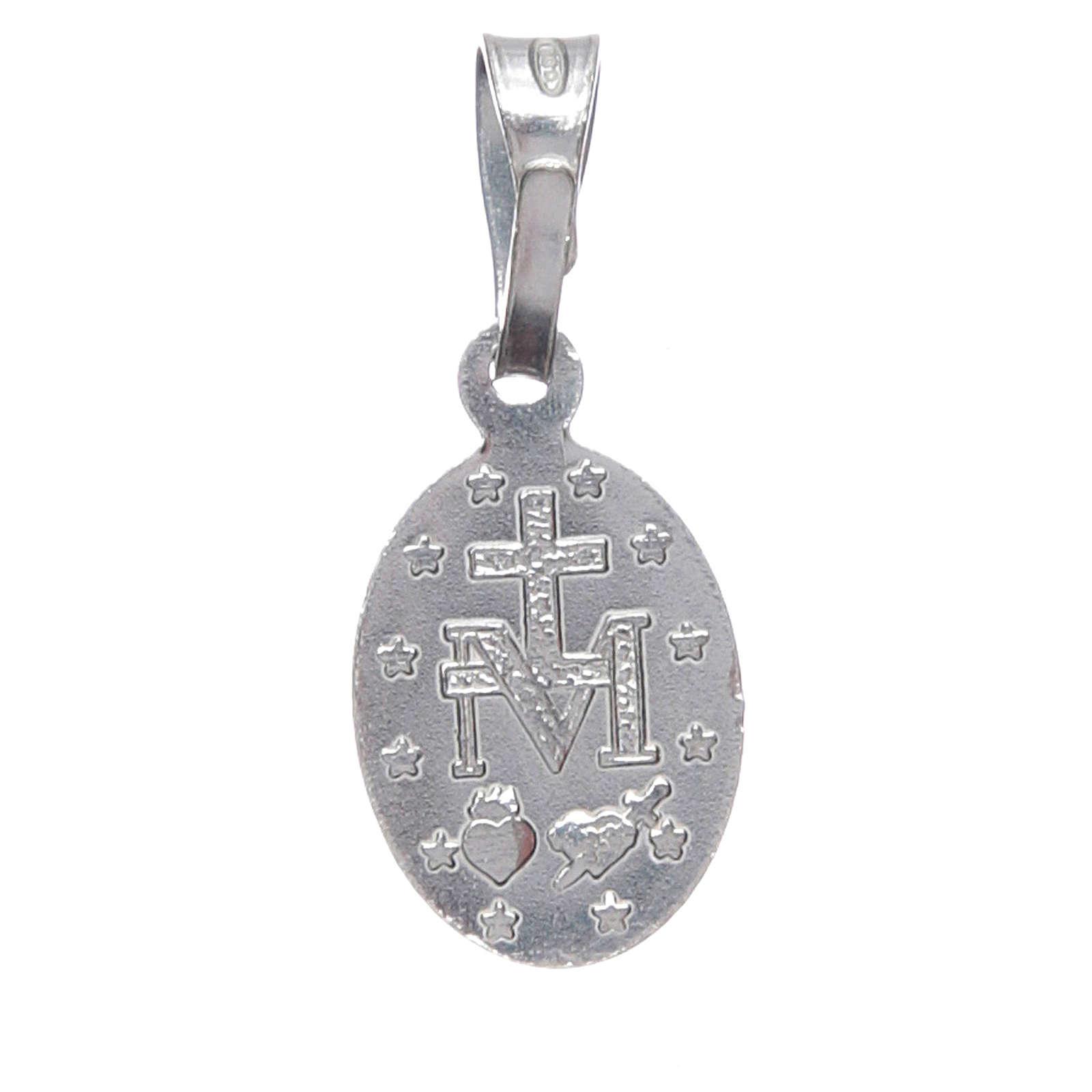 Medalla Virgen Milagrosa plata 925 4