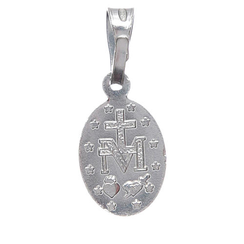 Miraculous medal in silver 925 1 cm h 2