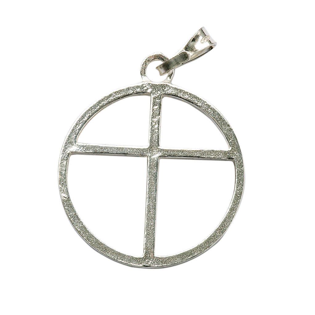 Croix et cercle argent 925 4