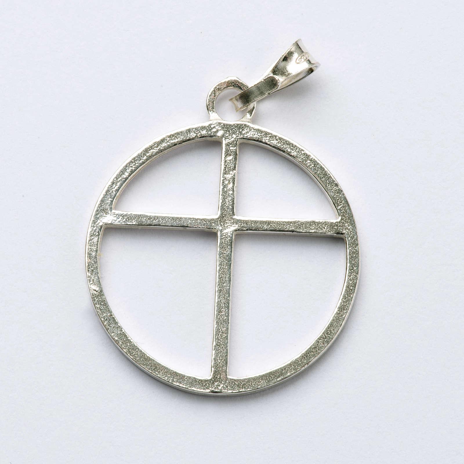 Sun cross pendant in silver 800 4