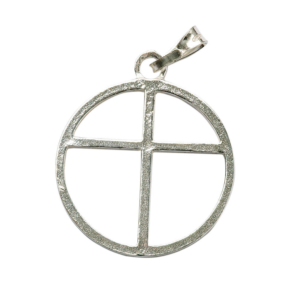 Sun cross pendant in silver 925 4