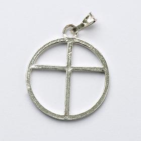 Sun cross pendant in silver 800 s1