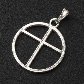Sun cross pendant in silver 800 s3
