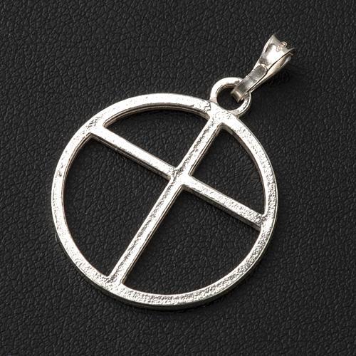 Sun cross pendant in silver 800 3