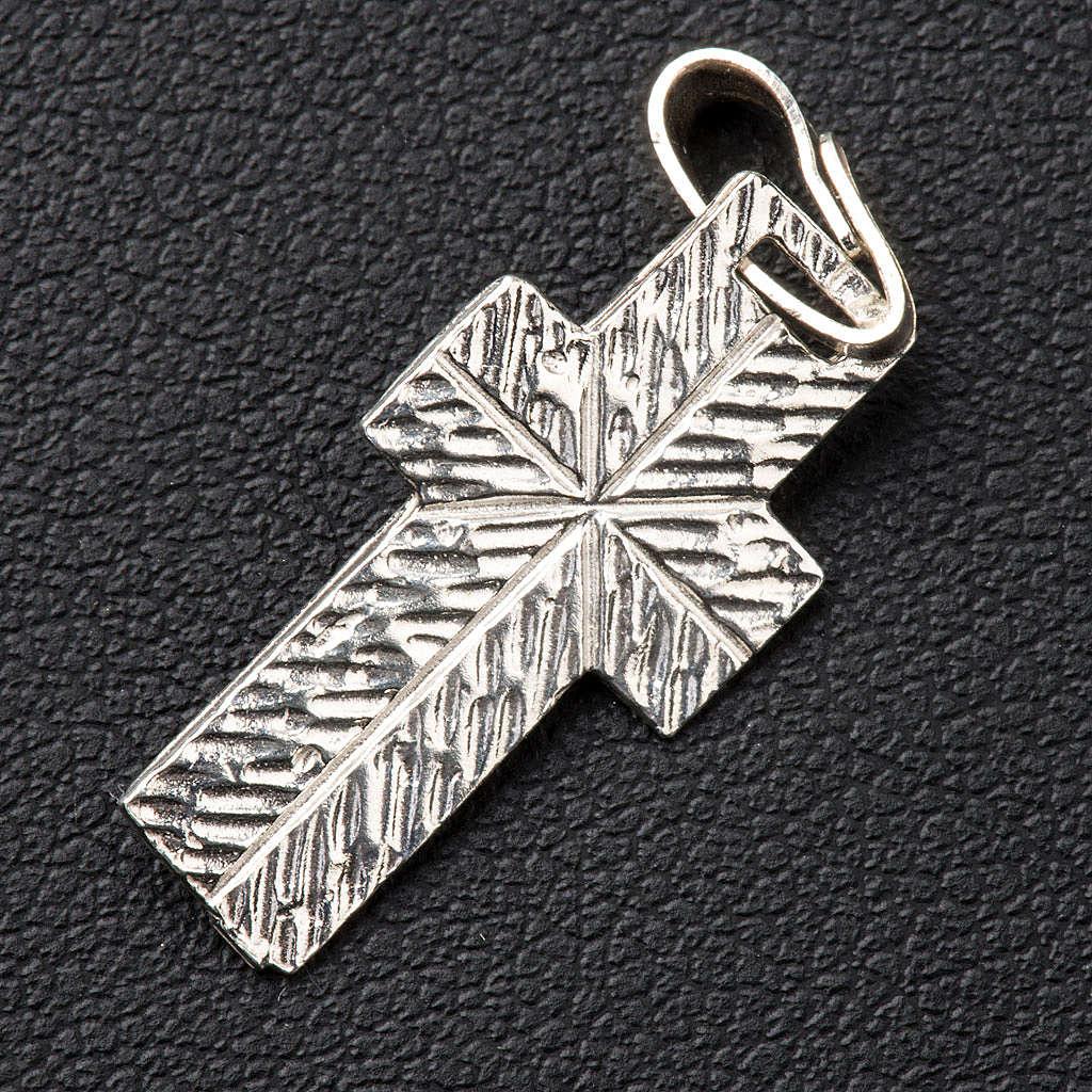 Croce lavorazione sul retro Argento 4