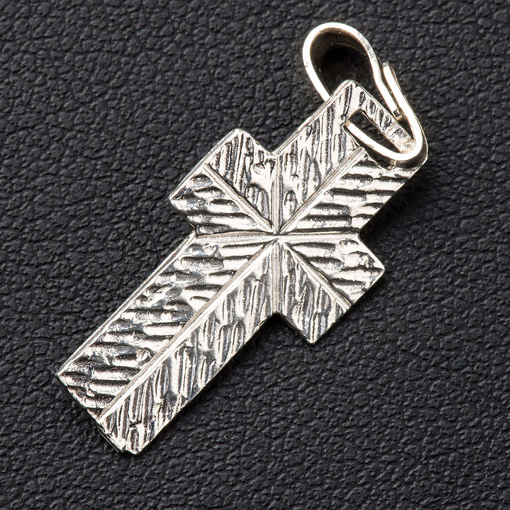 Krzyżyk zdobiony tył Srebro 4