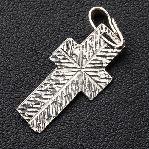 Krzyżyk zdobiony tył Srebro 3