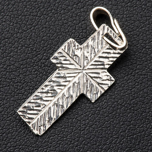 Pendant crucifix in silver, worked on back 3