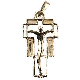 Cruz dorada en plata 925 Moderna s1