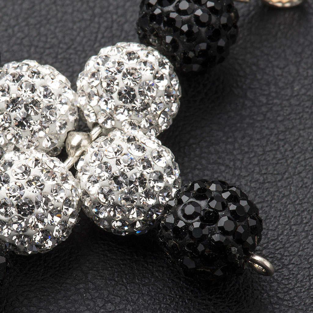 Croix avec perles Swarovski 5x4 cm 4