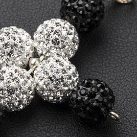 Croix avec perles Swarovski 5x4 cm s3