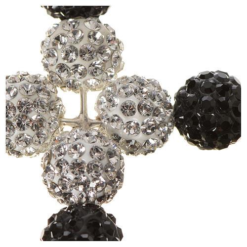 Croix avec perles Swarovski 5x4 cm 2