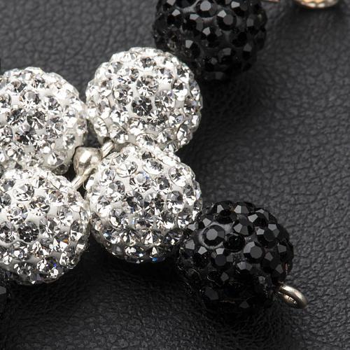 Croix avec perles Swarovski 5x4 cm 3