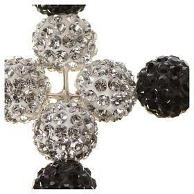 Croce con perle Swarovski 5x4 cm s5