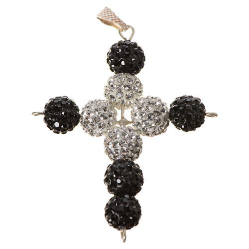 Croce con perle Swarovski 5x4 cm 4