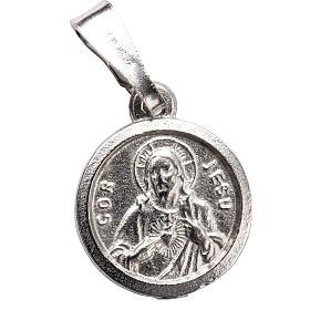 Escapulario de plata 925 diam 1 cm s1