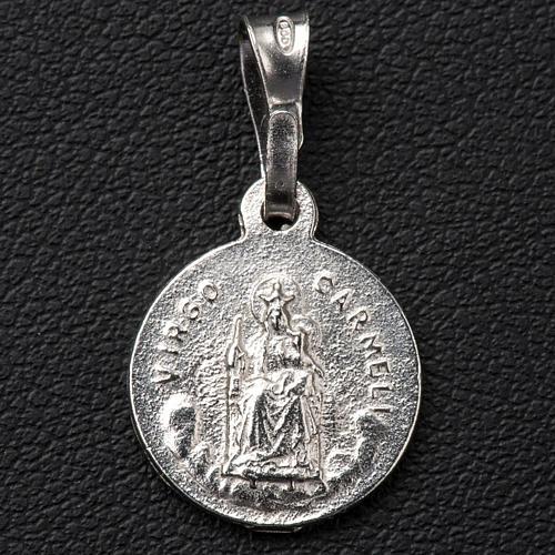 Escapulario de plata 925 diam 1 cm 2
