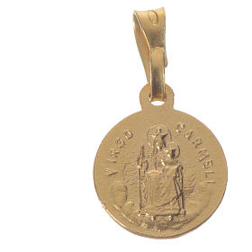 Scapular Medal in gold-plated silver diam 1 cm s2