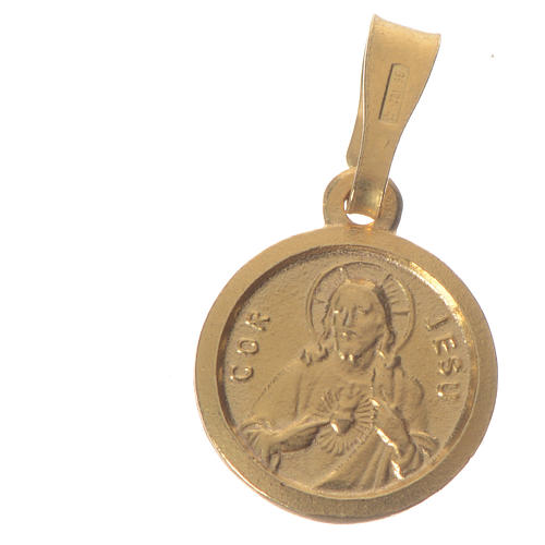 Scapular Medal in gold-plated silver diam 1 cm 1