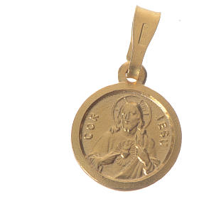 Scapular Medal in gold-plated silver diam 1 cm s1