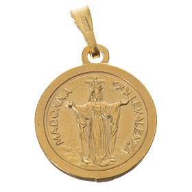Scapolare argento 925 dorato diam 2cm s3