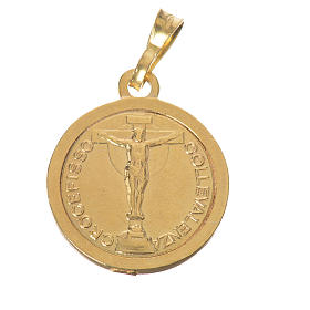 Scapular Medal in gold-plated silver diam 2 cm s2