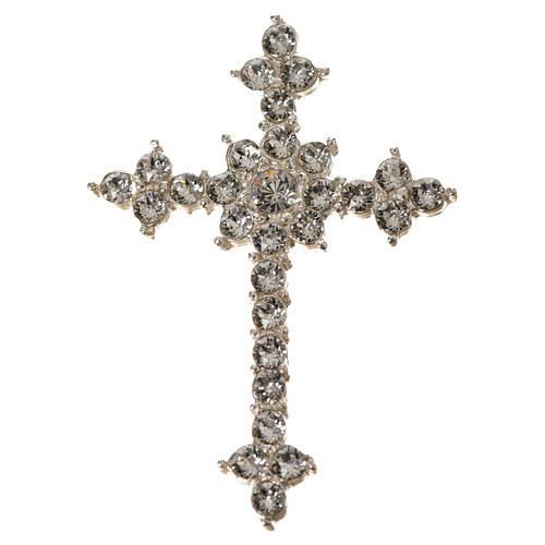 Cruz de Plata 925 y  strass de 3.5x4,5 cm 5