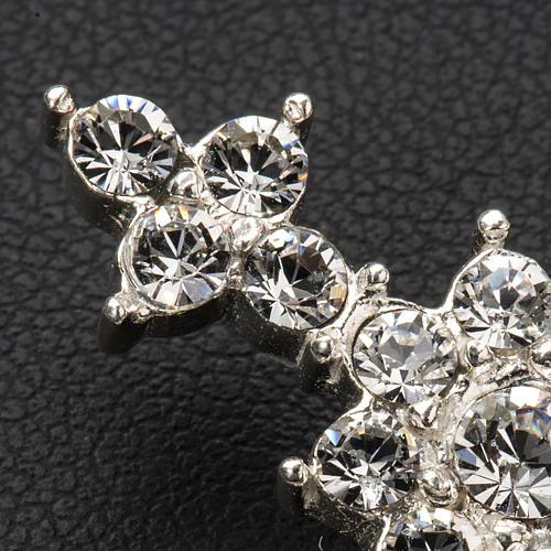 Pendant cross in silver and rhinestone 3,5 x 4,5 cm 8