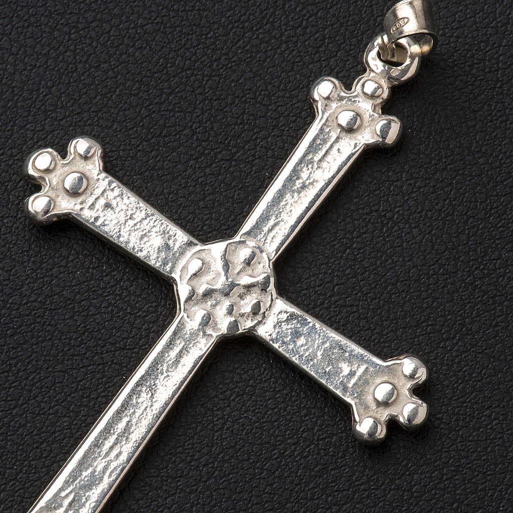 Pendant cross in silver, budded, 5x3,5 cm 4