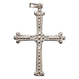 Pendant cross in silver, budded, 5x3,5 cm s1